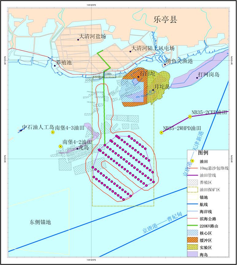河北省唐山乐亭菩提岛海上风电场示范项目300mw工程